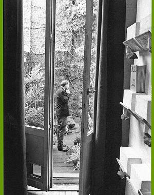 <p>Koolhaas op het dakterras van Copyright</p>