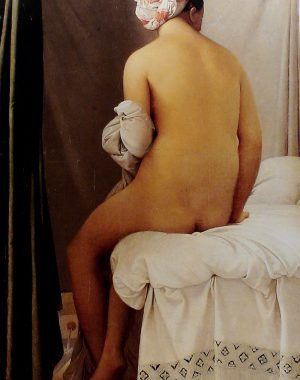 """<p>Jean-Baptiste Ingres. 1808 'Baigneuse de dos' dite """"de Valpinçon' (Musée du Louvre, Paris)</p>"""