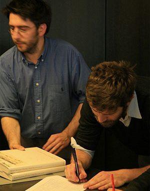 <p>Rudy en Jonas, medewerkers van Copyright Antwerpen</p>
