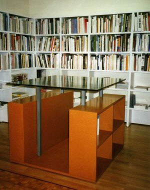 <p>The table for art books.</p>