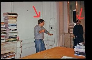 <p>Links Johan Boutelegier en rechts schoonbroer Raf Pauwels</p>