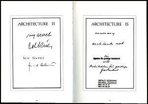 <p>Postkaarten van architect van Leon Krier en curator Harald Szeemann</p>