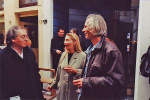 <p>Links: dirigent Philippe Herreweghe en rechts vriend Ivan Adriaens</p>