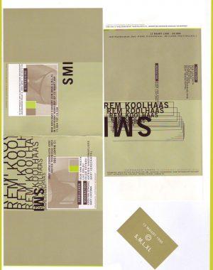 <p>Uitnodiging, flyer en sticker voor de lezing (ontwerp Thomas Soete)</p>