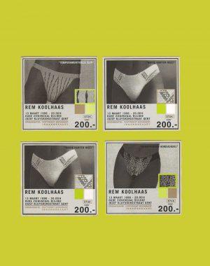 <p>De kaartjes voor de voorverkoop (ontwerp Thomas Soete!</p>