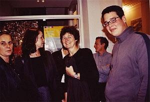 <p>Van links naar rechts: Kaatje Cusse, Hilde Daem, Marlene<br /> en Bernard Dubois</p>