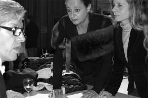 <p>In het midden: Olivia, echtgenote van Stéphane Beel</p>