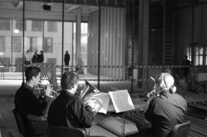 <p>De muzikale omlijsting werd verzorgd door studenten van de Koninklijke Muziekacademie Gent (de buren van Stéphane en Olivia Beel)</p>