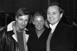 <p>Hilde Peleman met architecten Bernard Van de Kerchove en Glenn Sestig</p>