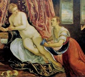 <p>Tintoretto , 1580. Danaä (collectie Musée des Beaux Arts, Lyon)</p>