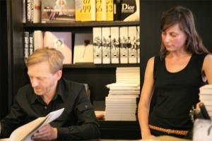 <p>met Babs, medewerkster van Copyright Antwerpen</p>