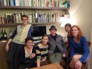 <p>Dirk Braeckman en zijn harem: de meisjes van Copyright Bookshop Gent</p>