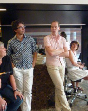 <p>Links: Bruno Verbergt, bedrijfsdirecteur Cultuur, Sport en Jeugd van de stad Antwerpen</p> <p>Rechts: Kristiaan Borret, stadsbouwmeester Antwerpen</p>