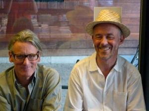 <p>Links: Johan Boeykens van Copyright Bookshop</p> <p>Rechts: architect Jan Meersman</p>