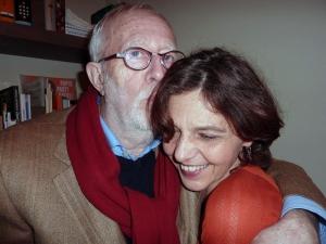 <p>Schilder Karel Dierickx en Ilona Terkessidis, externe communicatie St. Lucas Beeldende Kunsten, Gent</p>