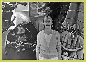 <p>Me in front of a painting by Georg Immendorf in the Gewad.</p>