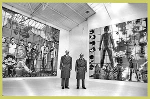 """<p>Gilbert & George in the exhibition space """"Gewad""""(1982)</p>"""
