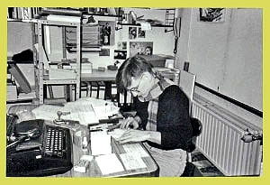 <p>It was the time before computer, fax and e-mail. We had only a writing machine.</p>