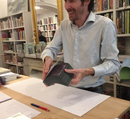 <p>Vaast Colson in volle actie in Copyright Gent</p>