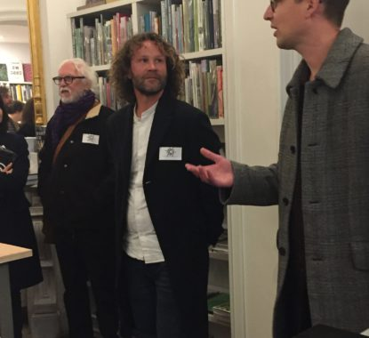 <p>Artist Louis De Cordier en writer Maarten Inghels who recited his beautiful poem 'Lorem ipsum' as an introduction  to the book.</p>